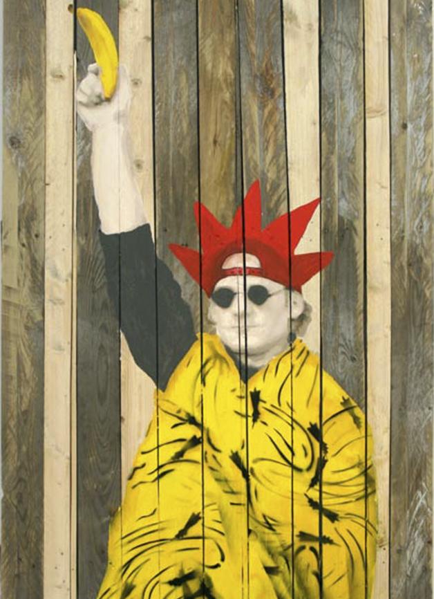 Deutsche Freiheitsstatue, 2009, Spraylack und Acryl auf Holz, 250 × 99 cm © Th. Baumgärtel