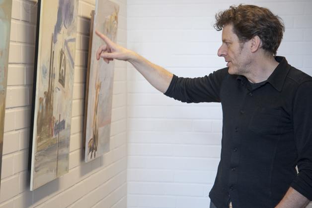 Gunther Grabe in der Ausstellung