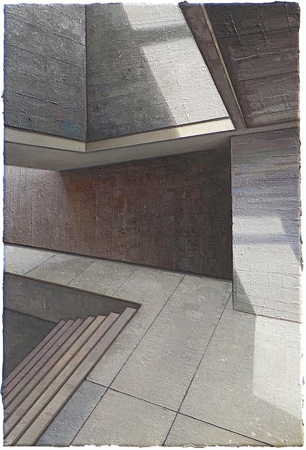 Babel / Fragment Nr. 25, 60 x 40 cm, Öl / Leinwand 2018 © Jens Hausmann