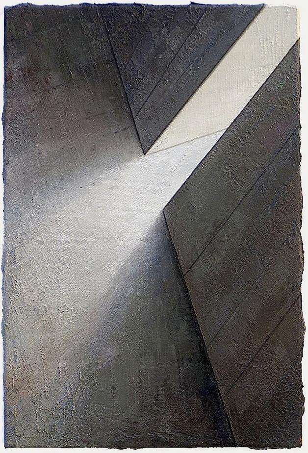 Babel / Fragment Nr. 27, 60 x 40 cm, Öl / Leinwand 2018 © Jens Hausmann