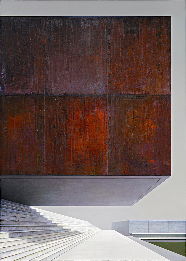 Block, 210 x 155 cm - Öl / Leinwand 2018 (Privatsammlung K. Kaddelbach, Potsdam) © Jens Hausmann