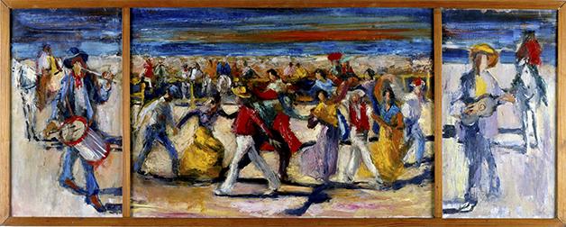 La Farandole, 1951, Öl auf Leinwand 42 x 106 cm © M. Heiner