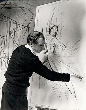 Wilhelm Heiner zeichnet Colette Marchand, 1953 © M. Heiner
