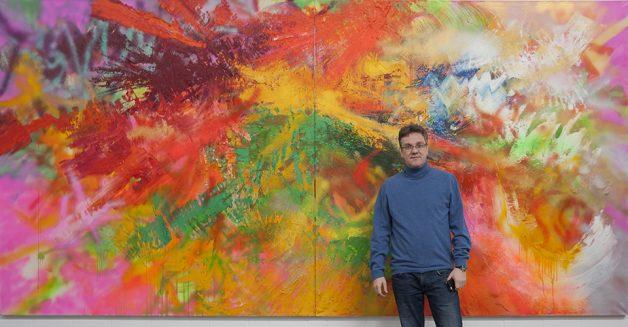Sebastian Heiner in der Ausstellung
