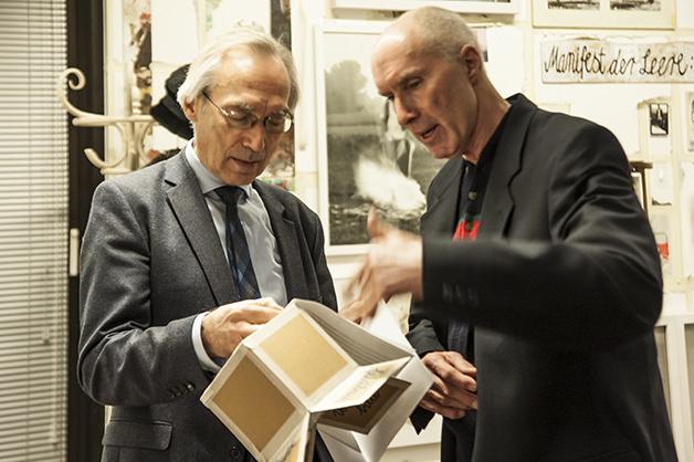 Bruno Krenz (rechts) mit dem Kunstwissenschaftler Prof. Dr. Franz