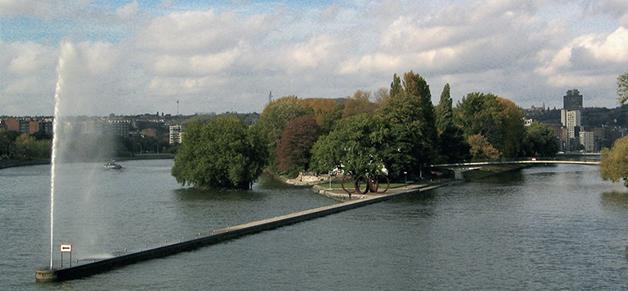 Der Park des Museums La Boverie © Foto Museum La Boverie