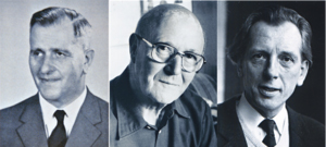 Die Vorsitzenden (v.l.n.r.) Dr. Gerhard Budde 1955-1965, Hans Gelderblom 1965-1981, Carl Hermann Sandmeier 1981-1990