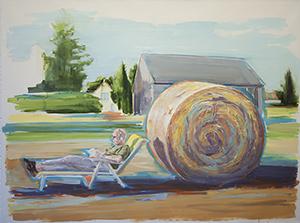 Kleine Idyllen – Rüstow 1, 2014, Ölfarbe auf Leinwand © Gunther Grabe