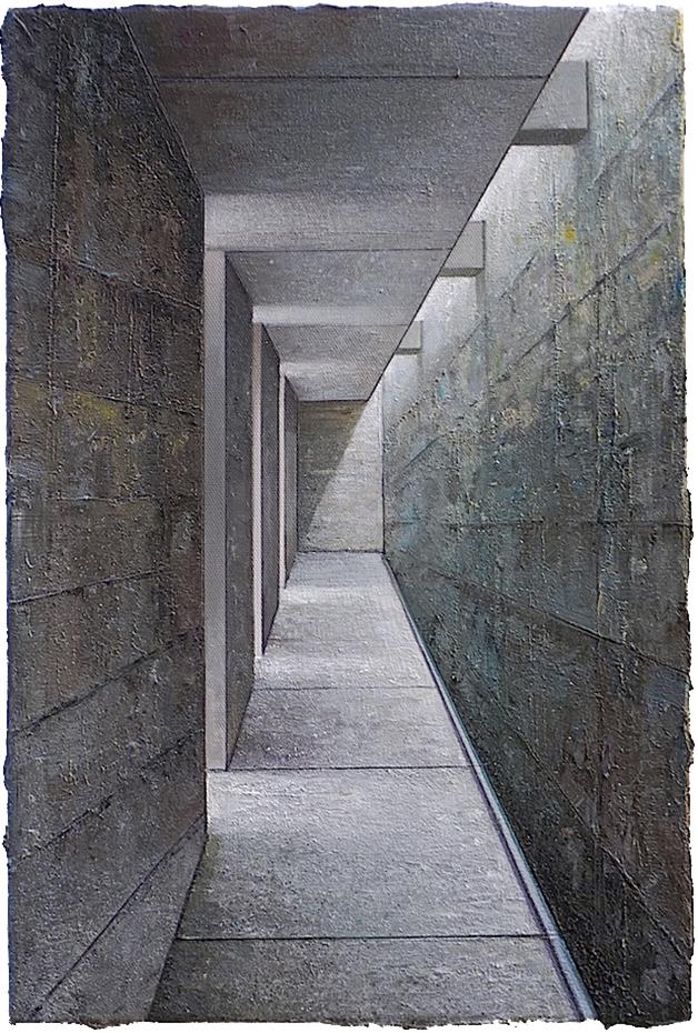 Babel / Fragment Nr. 26, 60 x 40 cm, Öl/Lw. 2018 / Sammlung Fondation Marcos Amaro, Sao Paulo © Jens Hausmann