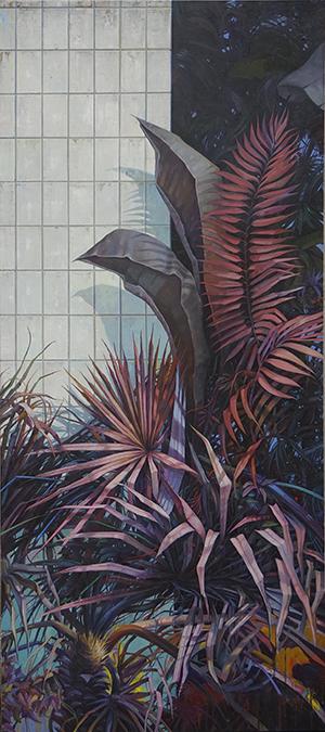 The Garden, 270 x 120 cm, Öl / Leinwand 2016 © Jens Hausmann