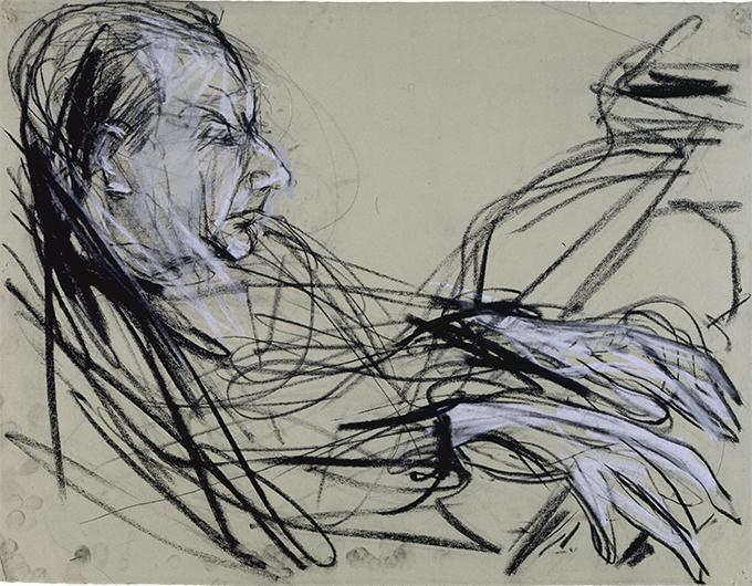 Wilhelm Kempff, 1948 Kohle/Kreide auf Bütten, 49 x 63 cm © M. Heiner