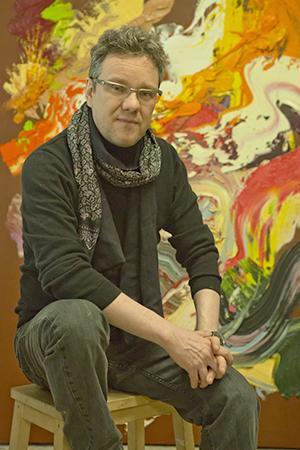 Sebastian Heiner im Berliner Atelier