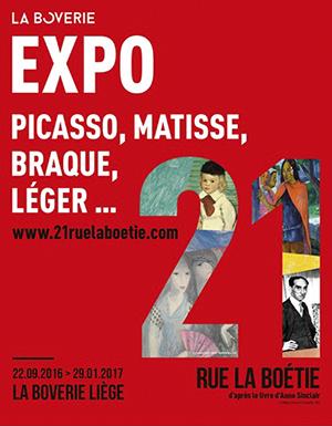 """Plakat der Ausstellung """"21, rue La Boétie"""" © Museum La Boverie"""